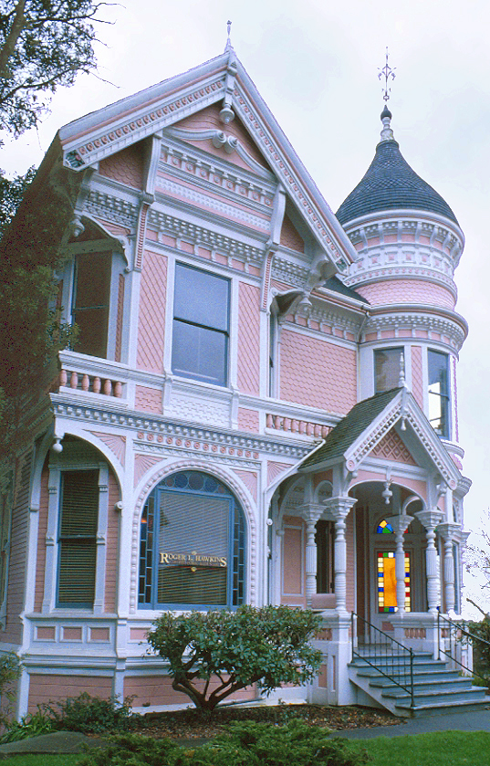 Fanciful victorian home with eastlake details the for Victorian themed house