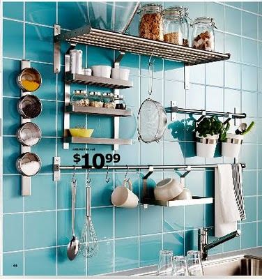 Ikea Grundtal Series: Another Contemporary Look Made Of Stainless Steel.  Also Has A Fold Down Dish Drainer Option As Well As A Wall Mounted Plate  Rack. Design